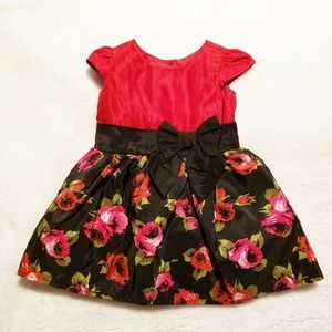 Baby Girl Floral Dress Size 6-9 Months EUC